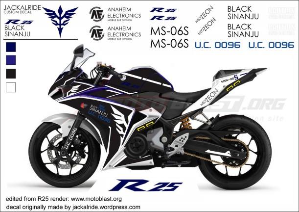 Black Sinanju modified ala Jackalride, foto dasarnya dari motoblast.org