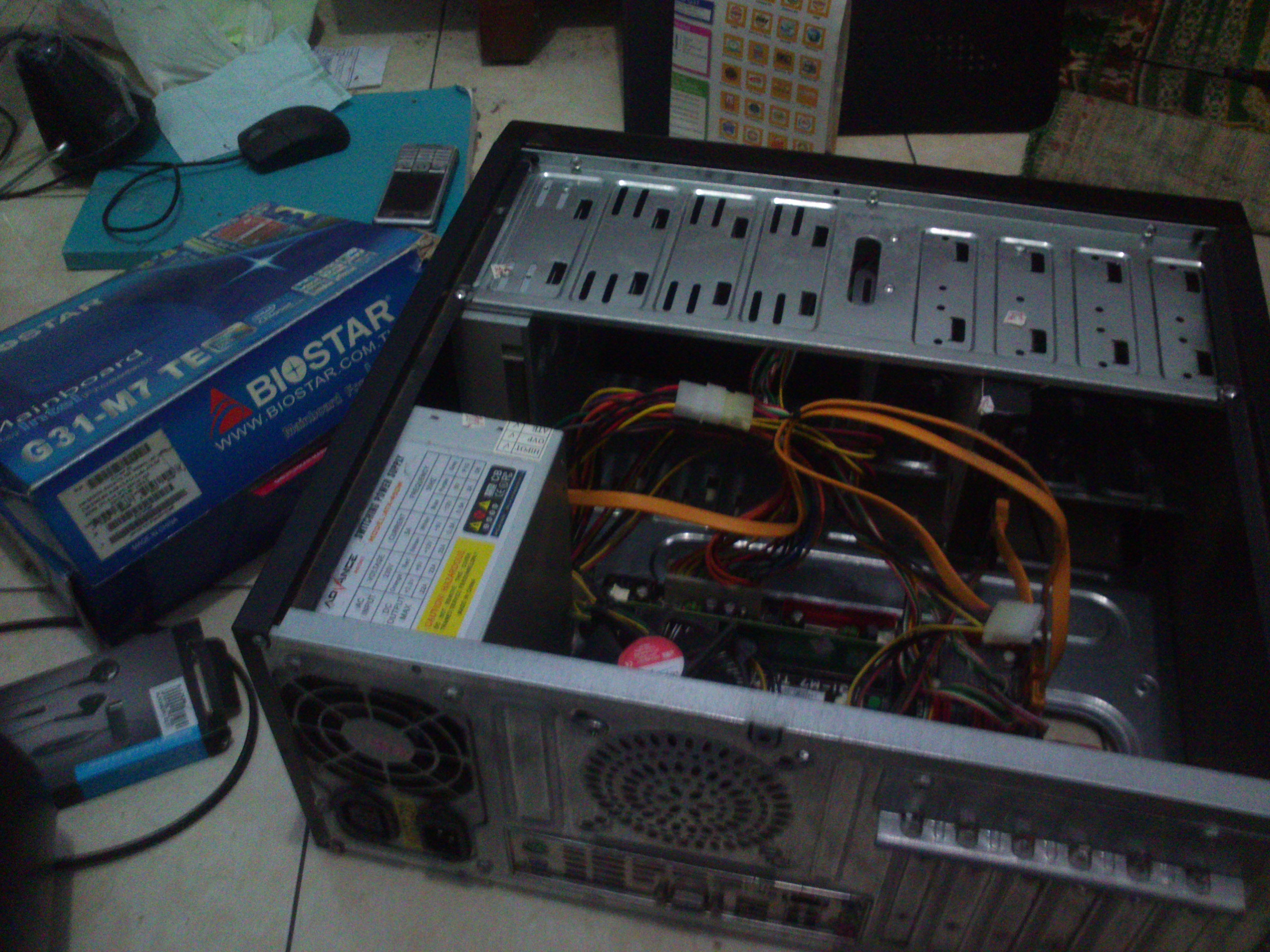 Restorasi Komputer Butut Teman Socket Lga 775 Intel Core Duo Mainboard Buildup Ddr3 Dsc 0798