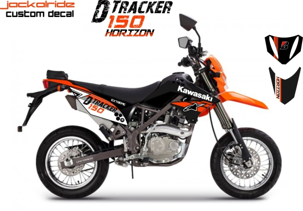 custom decal kawasaki D-Tracker KLX 150 Horizon