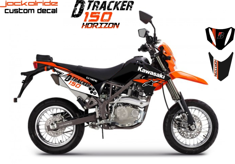 custom decal kawasaki D-Tracker KLX 150 Horizon