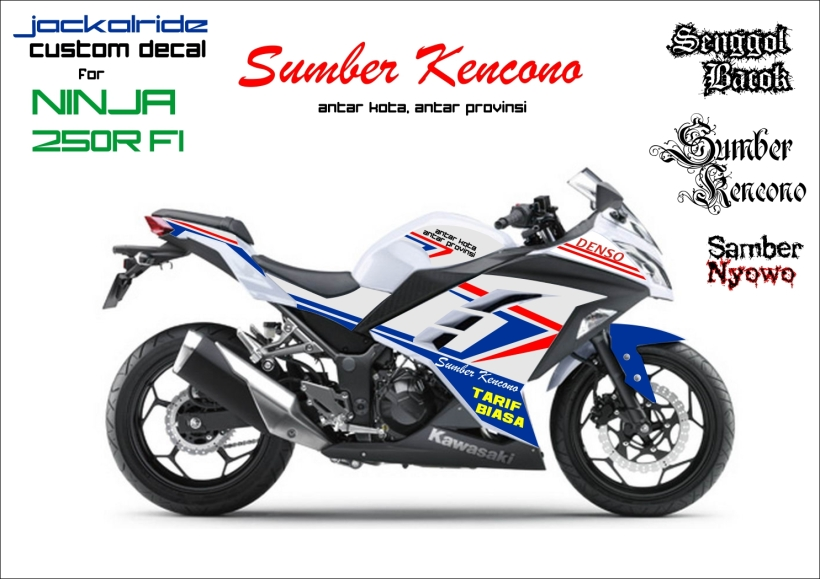 custom decal ninja 250R FI SumberKencono