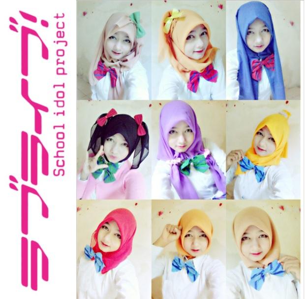 Love Live Hijab ver. (cosplayernya orang Indramayu lhoh)