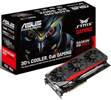 ASUS R9 390X STRIX 8GB. and yeah, 8 GB. Lebih gede dari GTX 980 Ti.