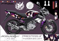Decal Old V-Ixion 150R Akeno Himejima
