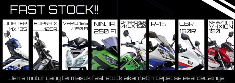 motor-motor yang fast stock alias bisa diproses cepat